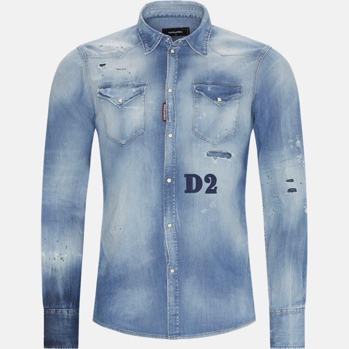 Denim skjorte - Skjorter - Regular - Blå